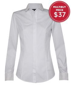 Fitted White Spot Dobby Shirt