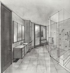 Perspective, Illustrations, Architecture, Room, Furniture, Design, Home Decor, Arquitetura, Bedroom