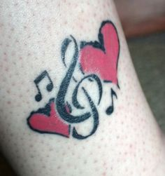Heart And Tribal Clef Tattoo Design.....Looking Beautiful.