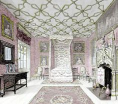 Strawberry Hill: The Great North Bedchamber Strawberry Hill House, Antique Dollhouse, Georgian Architecture, English Decor, Great North, Story Of The World, Historic Houses, Regency Era, In Ancient Times