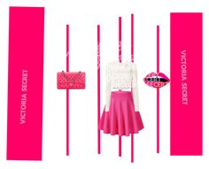 Victoria secret pink and white by vishalatomar on Polyvore featuring A.L.C., Chanel, Casetify, love and Pink