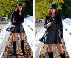 Zara Cap, Zara Jacket, Dress, Zara Shoes