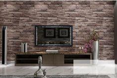 Modern PVC Wood Stone Brick Wallpaper for walls 3 d Luxury Classic Vintage Living Room Background Wall Decor papel de parede * Pub Date: Feb 17 2017 Vinyl Wallpaper, Brick Wall Wallpaper, Look Wallpaper, Stone Wallpaper, Wallpaper Murals, Paper Wallpaper, Adhesive Wallpaper, Photo Wallpaper, Metal Wall Decor