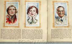 Vintage Film Stars 2nd Series Full complete Set of 50 Cigarette Cards in Original Album by John Player & Sons Issued in 1934 (ref: 5012)