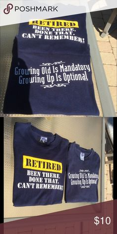 Unisex T-Shirt Bundle 2 unisex Large t-shirts in good used condition. Navy blue background. Tops Tees - Short Sleeve