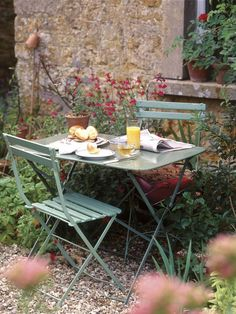 French Garden Furniture. French Garden Ideas, Courtyard, Vintage, Country, French Vintage :)