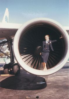 Pan Am - Miami Airport circa 1988 - note my shoes in front of the engine!