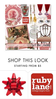 """Set the Table with Vintage!"" by bamaannie ❤ liked on Polyvore featuring interior, interiors, interior design, home, home decor, interior decorating, Martha Stewart and vintage"