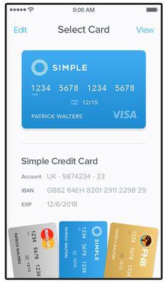 Cards UI iOS App Concept