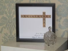 Personalised Anniversary Scrabble picture - anniversary gift, anniversary, anniversary present
