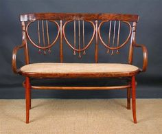 In the manner of Josef Hoffman, A bentwood settee, probably manufactured by J. J. Kohn or Thonet