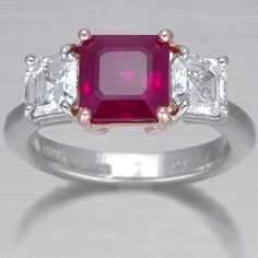 Burma Ruby Engagement Ring