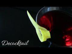 decoracion para coctel con twist de limon, simple - YouTube