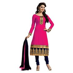 Buy Salesway Pink Georgette Dress Material by salesway, on Paytm, Price: Rs.879?utm_medium=pintrest