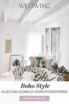 Der locker-lässige Boho Stil ist längst im Interior-Bereich angekommen. Ihr wollt den Trend auch in Eurem Zuhause stylen? Unsere Interior-Experten verraten Euch alles, was Ihr über den Bohemian Style wissen müsst. Lasst Euch von den schönen Ideen inspirieren und taucht ein in eine Welt abseits von Tristesse und Langeweile! #westwing #boho #bohemianbedroomdecor #bohobedroom #boholivingroom #bohemianliving #bohemianhome