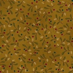 Heritage Hollow Berry Leaf Gold6318-40 GOLD