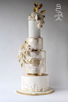 Indescribable Your Wedding Cakes Ideas. Exhilarating Your Wedding Cakes Ideas. Elegant Wedding Cakes, Elegant Cakes, Beautiful Wedding Cakes, Gorgeous Cakes, Wedding Cake Designs, Pretty Cakes, Wedding Cake Toppers, Champagne Wedding Cakes, Ivory Wedding Cake