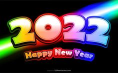 Free New Year Colorful Background 2022
