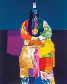 Kiowa Delegate by John Nieto (1936-2018) - Lewallen Galleries Contemporary Artists, Santa, Gallery, Fictional Characters, Roof Rack, Fantasy Characters