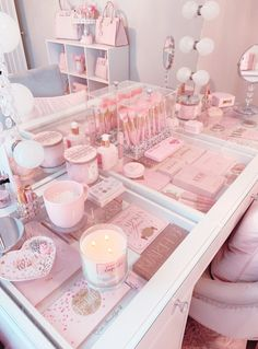 The Effective Pictures We Offer You About makeup room ideas diy A quality picture can tell you many Girl Bedroom Designs, Room Ideas Bedroom, Bedroom Decor, Cute Room Ideas, Cute Room Decor, Kawaii Bedroom, Aesthetic Bedroom, Pink Aesthetic, Makeup Rooms