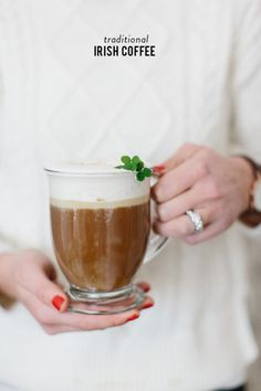 Just in time for St. Patrick's Day! http://www.stylemepretty.com/living/2015/03/13/traditional-irish-coffee-perfect-for-st-patricks-day/ | Photography: Erin McGinn - http://www.erinmcginn.com/