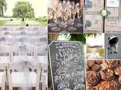 gray and lavender wedding details