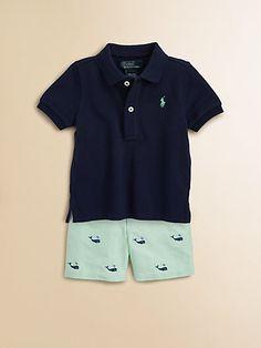8ca8e64981 Ralph Lauren + Navy & Whale Adorned Shorts + Two-Piece Mesh Polo Shirt &
