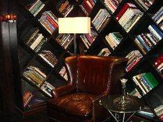 bookcase from Moonlight Bradshaw Modern Interior Design, Contemporary Design, Ikea Fans, Wine Rack Storage, Book Storage, Storage Ideas, Creative Bookshelves, Craft Booth Displays, Library Design