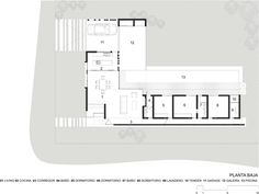 large student home apartment home complex Modern Bungalow House, Modern House Plans, Small House Plans, House Floor Plans, Large Floor Plans, L Shaped House, Small Country Homes, Craftsman Floor Plans, Architectural House Plans