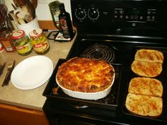 READY TO PLATE w/ extra sourdough-roasted garlic bread.........