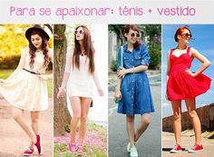 Combinação tênis + vestido http://www.phdemseilaoque.com/2015/02/combinando-tenis-e-o-verao.html