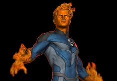 ArtStation - Human Torch FA, Earl Vincent Kasilag Human Torch, Wolverine, Hero, Fan Art, Artwork, 3d, Comic Art, Sculptures, Work Of Art