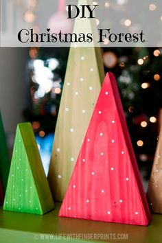 DIY Christmas Forest - easy craft to do with the kids