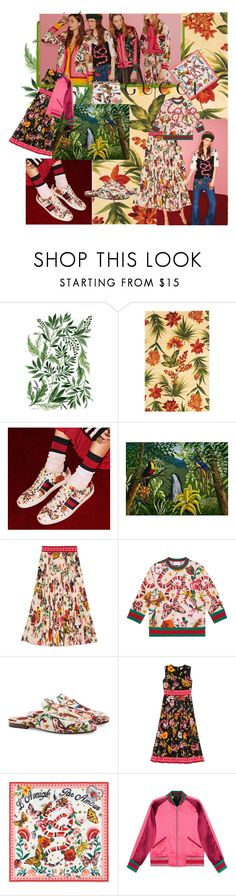 """""""Presenting the Gucci Garden Exclusive Collection: Contest Entry"""" by josefinai ❤ liked on Polyvore featuring KAS, Gucci, NOVICA, Summer, gucci, contestentry and guccigarden"""