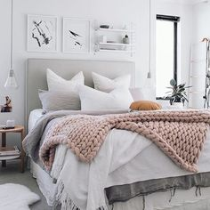 The bedroom is your personal space - a space where you spend the most time, so you want it to feel as comfortable as possible. Painting walls white in a bedroom is a clever choice, as these make an ideal background for colourful bedroom curtains.