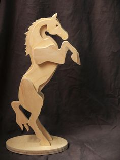 Wooden Horse Horse figurine Wooden toys Horse от carpinterowood