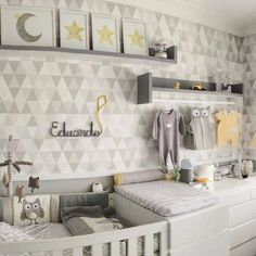 10 tricks to make space for a baby in your small home - Best Interior Design Ideas Baby Bedroom, Baby Boy Rooms, Baby Room Decor, Baby Boy Nurseries, Nursery Room, Bedroom Wall, Kids Bedroom, Best Interior Design, Interior Design Living Room