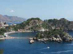 Isola Bella, a small island in front of the cost. Beautiful sea, amazing place! Sicily, Italy.