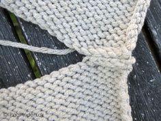 Maskesting på et aflukket arbejde - vrangsiden Knitting, Crochet, Tips, Jackets, Craft, Crochet Hooks, Tricot, Breien, Crocheting
