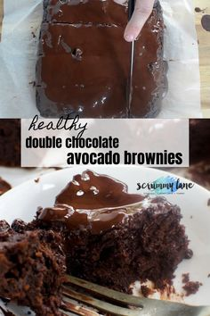 The best chocolate brownies - without any guilt! These healthier double chocolate brownies with avocado are quick, easy, delicious AND healthy. They're the perfect brownie.