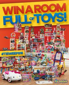 The Kids would go crazy!    Enter Between October 10 and December 9, 2016 and you could win $1,000 worth of toys for your kids just in time for the holidays! Here is an offer where you can enter to win the Room Full of Toys Holiday Sweepstakes, from The Toy Insider. PRIZES – (1) Grand …