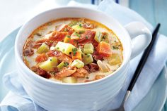 Smoked Fish and Chorizo Chowder.     By Rheanna Kish and The Test Kitchen. Michael Howell, chef and owner of Tempest Restaurant in Wolfville, N.S., sent us this recipe for the rich, creamy and delightful chowder that is featured at his restaurant as part of the Taste of Nova Scotia's Chowder Trail.