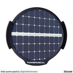 Solar power panel LED car decal
