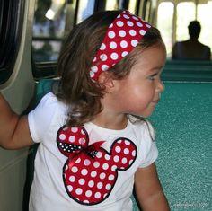 Minnie shirt and matching headband cute!