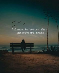 """Silence is better than necessary drama."" ""Silence is better than necessary drama. Drama Quotes, Soul Quotes, Fact Quotes, Attitude Quotes, Words Quotes, Life Quotes, Sayings, Real Quotes About Life, Family Love Quotes"