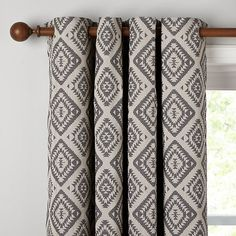 Buy John Lewis Native Weave Lined Eyelet Curtains, Steel, W167 x Drop 228cm Online at johnlewis.com