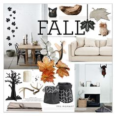 Scandinavian Fall Decor by szaboesz on Polyvore featuring interior, interiors, interior design, home, home decor, interior decorating, Eleanor Stuart, Smith & Hawken and fallhomedecor, BoConcept