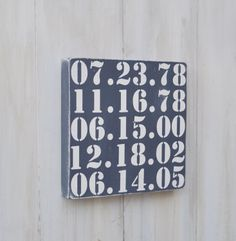 Important Date Art Bridal Shower Gift Wedding Gift by wavynavy, $32.00