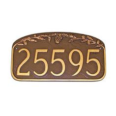 Montague Metal Products Pine Cone Address Plaque Finish: Swedish Iron / Black, Mounting: Wall