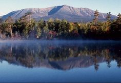 Mt. Katahdin, Baxter State Park, Maine, USA. <3. We went here for our honeymoon in June 2004.